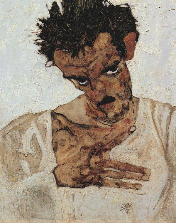 Egon-Schiele-SelbstPortraet-mit-gesenktem-Kopf_600